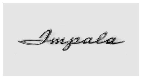 Chevrolet Chrome Script Lettering Impala Chevrolet Impala