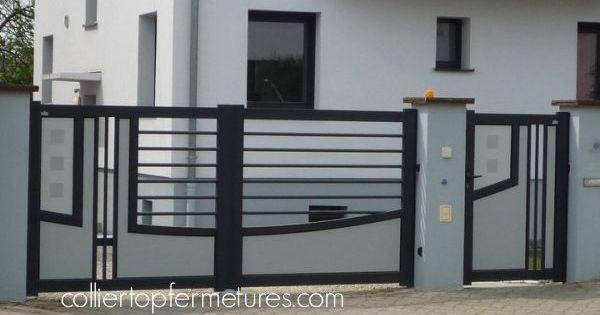 portail coulissant corail collier top fermetures installateur portails alu portes portes de. Black Bedroom Furniture Sets. Home Design Ideas