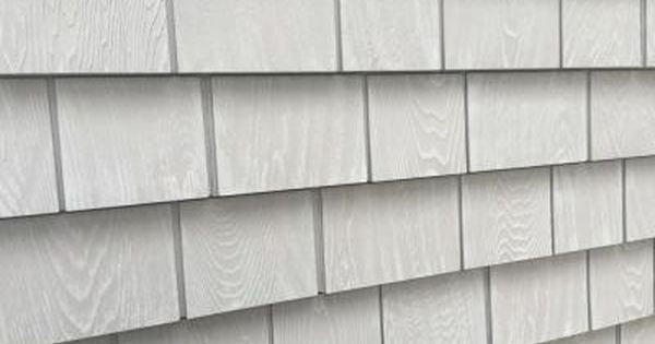 Grayne 6 1 2 In X 60 1 2 In Cape Grey Engineered Rigid Pvc Shingle Panel 5 In Exposure 24 Per Box 2546001 The Home Depot Shingle Panel Wood Shingle Siding Shingling