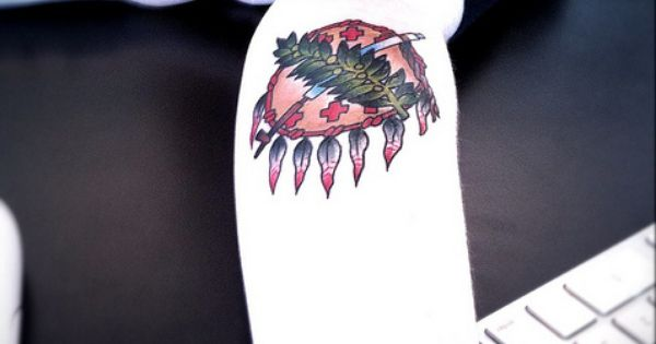 Spotted mega cool oklahoma tattoo at trichology by for Oklahoma flag tattoo