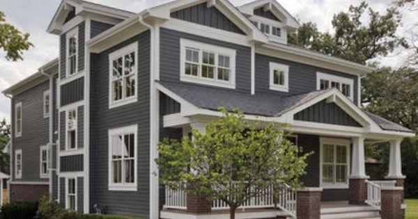 Exterior Gray Siding With Brick New House Color Pinterest Grey Siding Gray Siding And Bricks