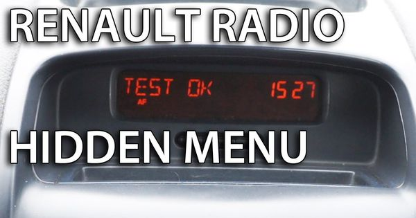 how to enter renault radio hidden menu and tests clio megan laguna kangoo espace trafic. Black Bedroom Furniture Sets. Home Design Ideas