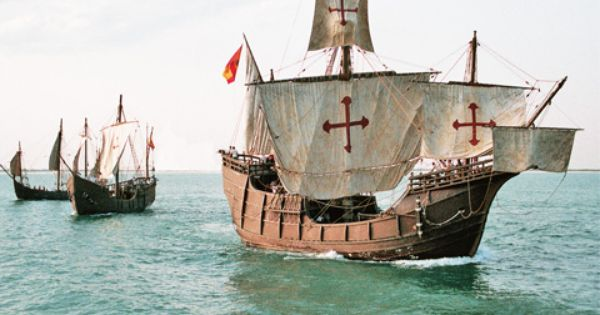 Video Sailed Columbus Ship Old Sailing Ships Happy Columbus Day