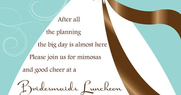 Playful invitation perfect for a bridesmaids luncheon or bridal shower