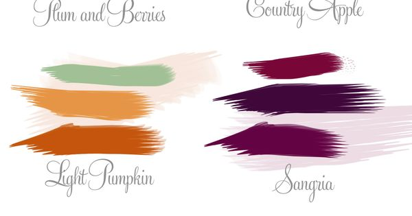 Plum and Berries. Top - Burnt orange (Alfred Angelo) Middle - Berry