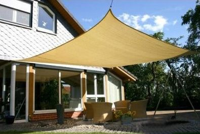 Heavy Duty Sun Sail Shade Medium 13 X10 Rectangle Available In 2 Colors Shade Sail Sun Sail Shade Outdoor Shade