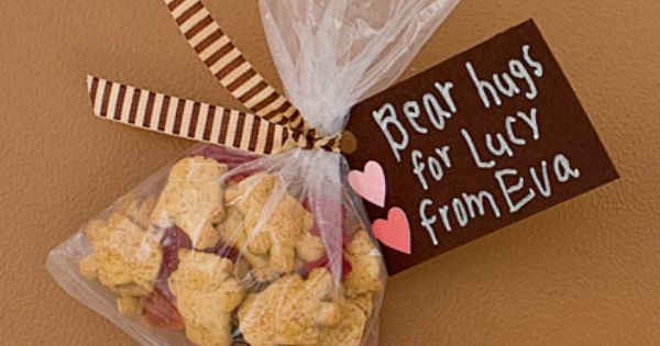 "* ""Bear Hugs"" for a Valentine treat ... a mix of gummy"