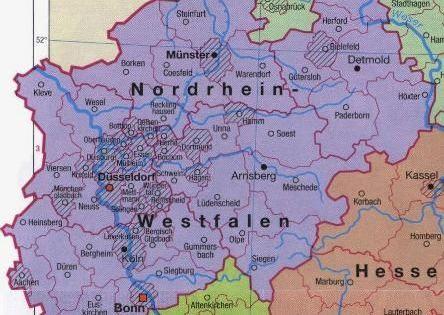 Nordrhein Westfalen Karte Deutschland Deutschland Karte