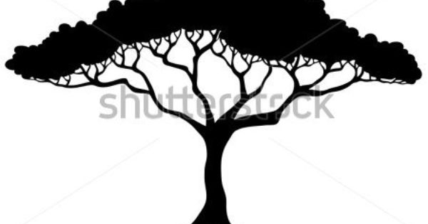 Silouette Trees Templates For Safari Cakes