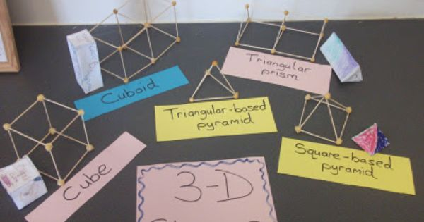 A Crucial Week Making 3 D Shapes With Concrete Materials Shapes Kindergarten Teaching Shapes Shapes Lessons