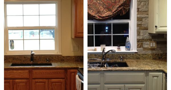 My kitchen update annie sloan chalk paint on cabinets for Annie sloan chalk paint kitchen cabinets before and after
