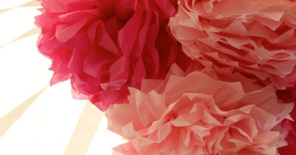 Paper flower decorations for flower party or wedding, tissue paper flowers flower