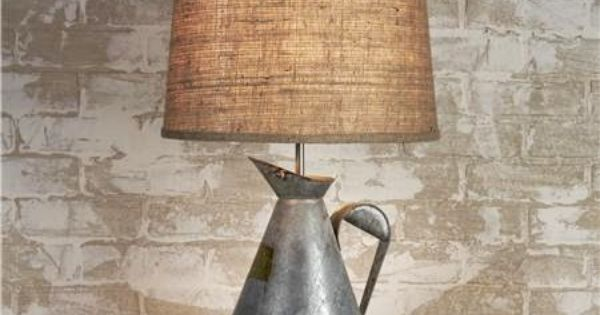 Water Can Lamp Home Style Pinterest Diy Light And Lights