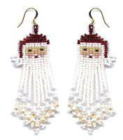 Free Seed Bead Earring Patterns Christmas Bead Beaded Earrings