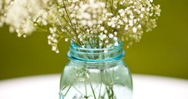 Blue Mason jar centerpieces (cute for baby shower)?