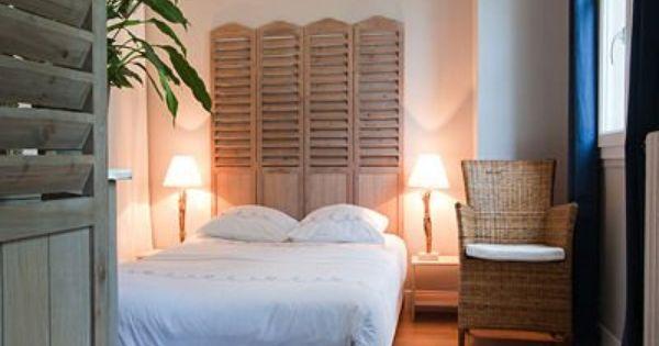 cr er une t te de lit avec d 39 anciens volets c t volets. Black Bedroom Furniture Sets. Home Design Ideas
