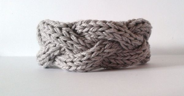 DIY: knit bracelet ~ Cabled Bracelets