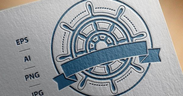 Ship Steering Wheel Logo Vector Wheel Logo Steering Wheel Creative Icon