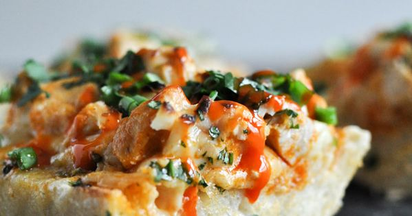 30-minute buffalo chicken french bread...talk about a great Super Bowl recipe...this is