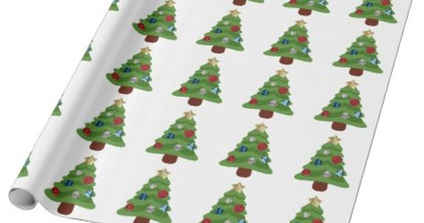 Emoji Christmas Tree Wrapping Paper Christmas Wrappingpaper Xmas Diy Holiday Emoji Christmas Tree Emoji Christmas Wrapping Paper Christmas