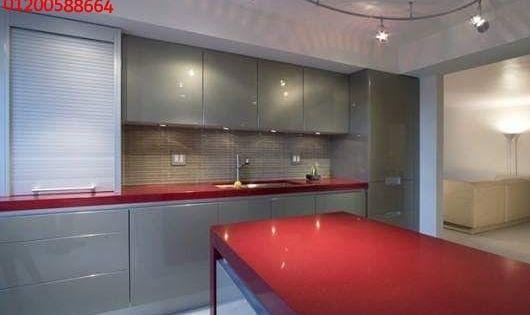 New The 10 Best Home Decor With Pictures ناس كتير بتسالنا اية الفرق بين الكوريان رخام صناعى و Contemporary Kitchen Design Stylish Kitchen Red Kitchen