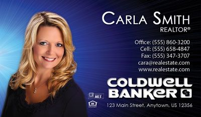 Coldwell Banker Business Card Template This Design Is A Coldwell Banker Agent Favorite Real Estate Business Cards Realtor Business Cards Real Estate Business