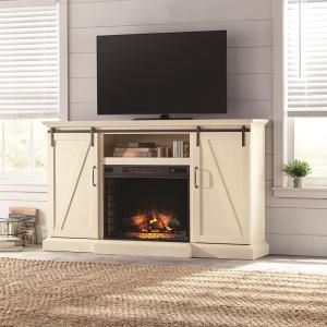 Chestnut Hill 68 In Tv Stand Electric Fireplace With Sliding Barn