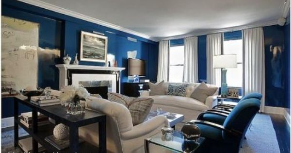 Szaro Granatowy Salon Blue Living Room Blue Rooms Blue And White Living Room