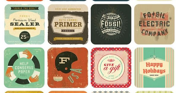 vintage type by dustin wallace for fossil. I love the vintage design