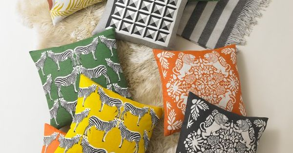 throw pillows from Dwell Studio
