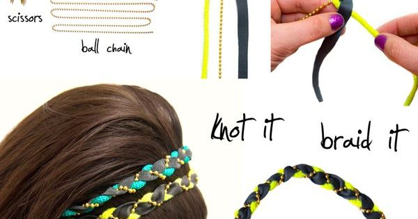 Elastic hair tie, braid... cute headband!