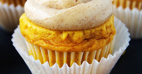 with Low Fat Cream Cheese Frosting | Recipe | Pumpkin Cupcakes, Cream ...