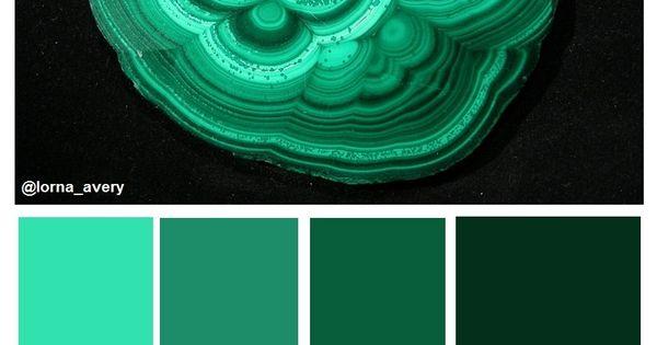 Malaquita verdes azulados muestras de colores - Colores verdes azulados ...
