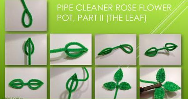 pipe cleaner crafts for kids part ii of the rose pot