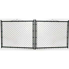5 Ft X 10 Ft Black Galvanized Steel Chain Link Drive Gate 441 67 Chain Link Fence Gate