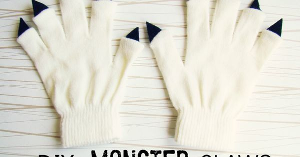 Learn how to make DIY monster claws for your little monster.