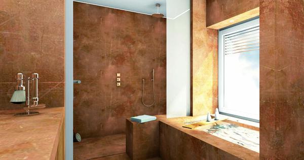 bad stucco pompaij Kalkputz überzeugt neben den fugenfreien - die schönsten badezimmer