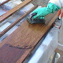 How To Strip Old Varnish Or Paint From Hardwood Trim Old House Remodeling Staining Wood Diy Wood Floors Wood Refinishing