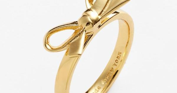 kate spade new york 'skinny mini' bow ring