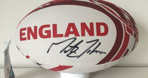 Rare Martin Johnson England Signed Rugby Ball Coa Autograph World Cup 2003 Autographs Rugby Union Memorabilia Martin Johnson Rugby Ball World Cup
