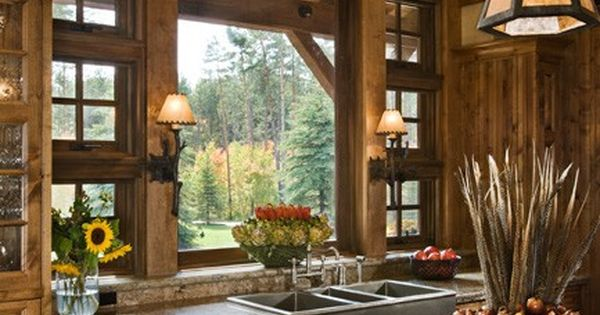 Dream Kitchen sink... what a view ! Rustic Kitchen