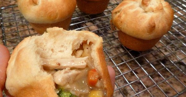hand held vegan potpies The crust is crescent roll dough (most brands