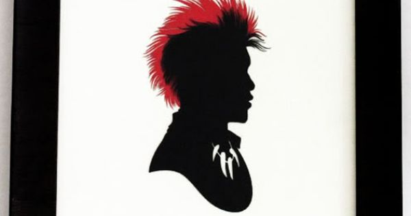 Olly Moss // 300 pop culture silhouettes. Rufio!