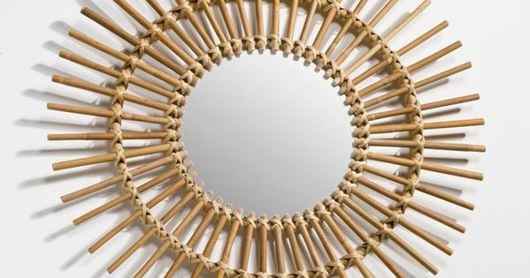 Miroir forme soleil vintage nogu la redoute interieurs for Miroir soleil prix