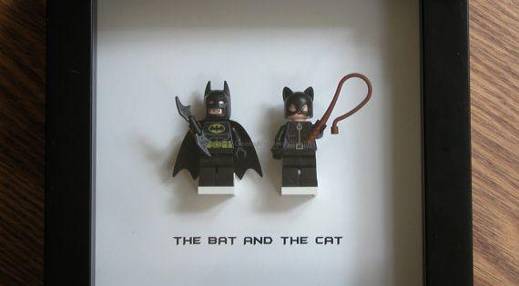 Batman Wedding Gift: LEGO Wall Art Batman And Catwoman By GeeksAndNerdsStudio