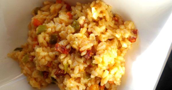 Risotto chorizo tomme de ch vre au cook o chorizo and risotto - Risotto chorizo thermomix ...