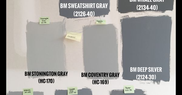 Benjamin moore gray paint swatches bm sweatshirt gray for Benjamin moore pewter 2121 30