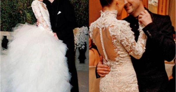 The Nicole Richie Wedding Dress Picture Celebrity Wedding Gowns