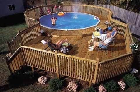 Above ground pools decks idea bing images if we 39 re for Above ground pool decks indianapolis