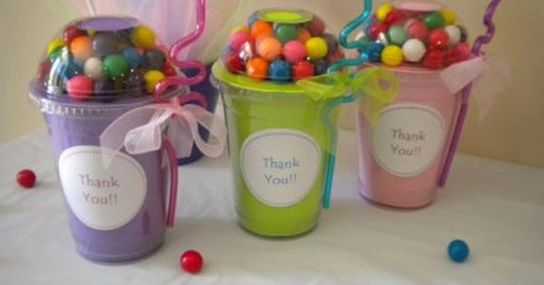 Party Favors -Gumball Cups These personalized cups are a really cute way